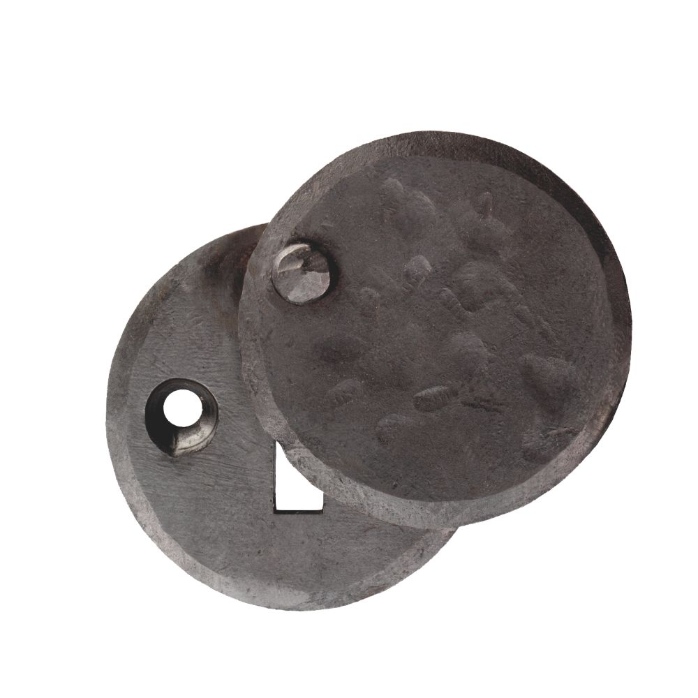 Image of Carlisle Brass Hand-Forged Covered Escutcheon Antique Black 40mm