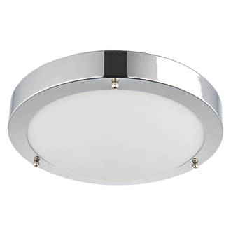 Image of Saxby Portico LED Bathroom Ceiling Light Chrome 650lm 9W