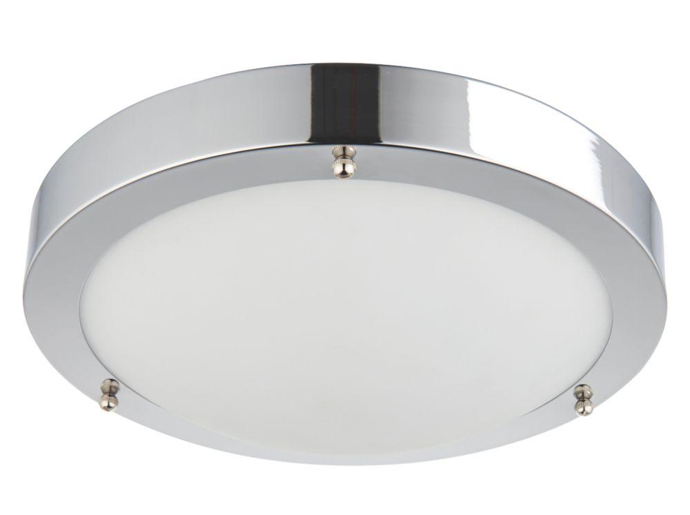 Bathroom Lights Screwfix saxby portico led bathroom ceiling light chrome 9w | bathroom
