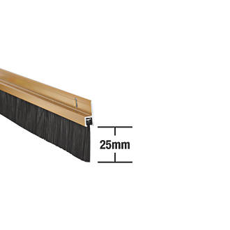 Image of Stormguard Heavy Duty Brush Seal Gold Anodised 0.91m