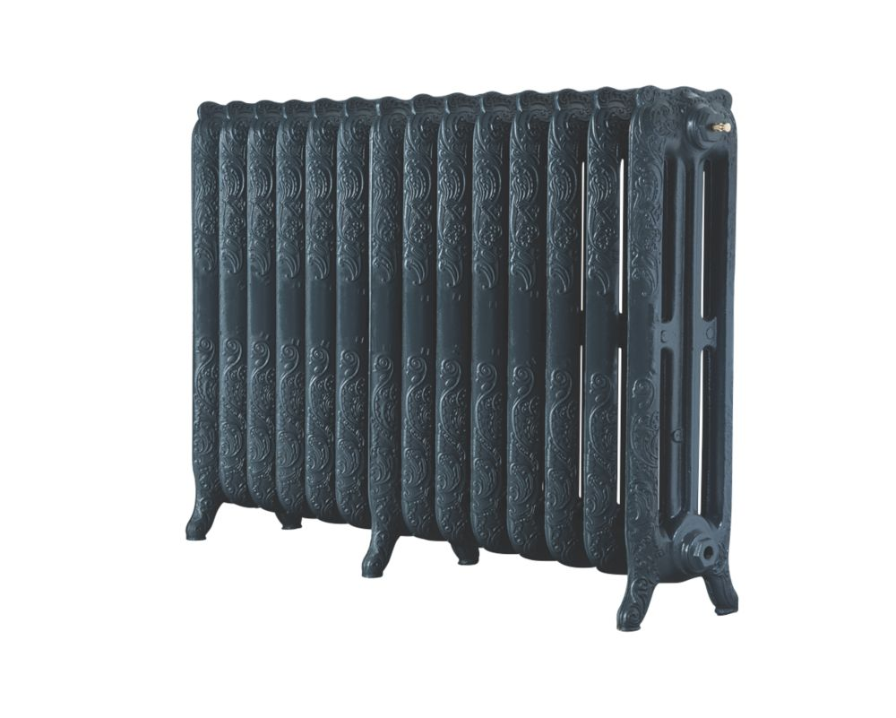 Image of Arroll 3-Column Cast Iron Radiator 760 x 1154mm Anthracite