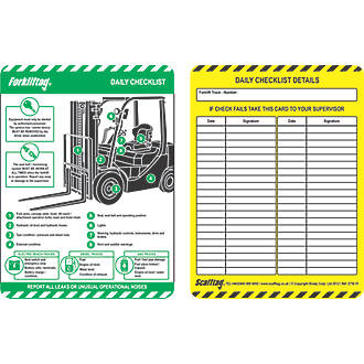 Image of Scafftag Forklift Inserts 10 Pack