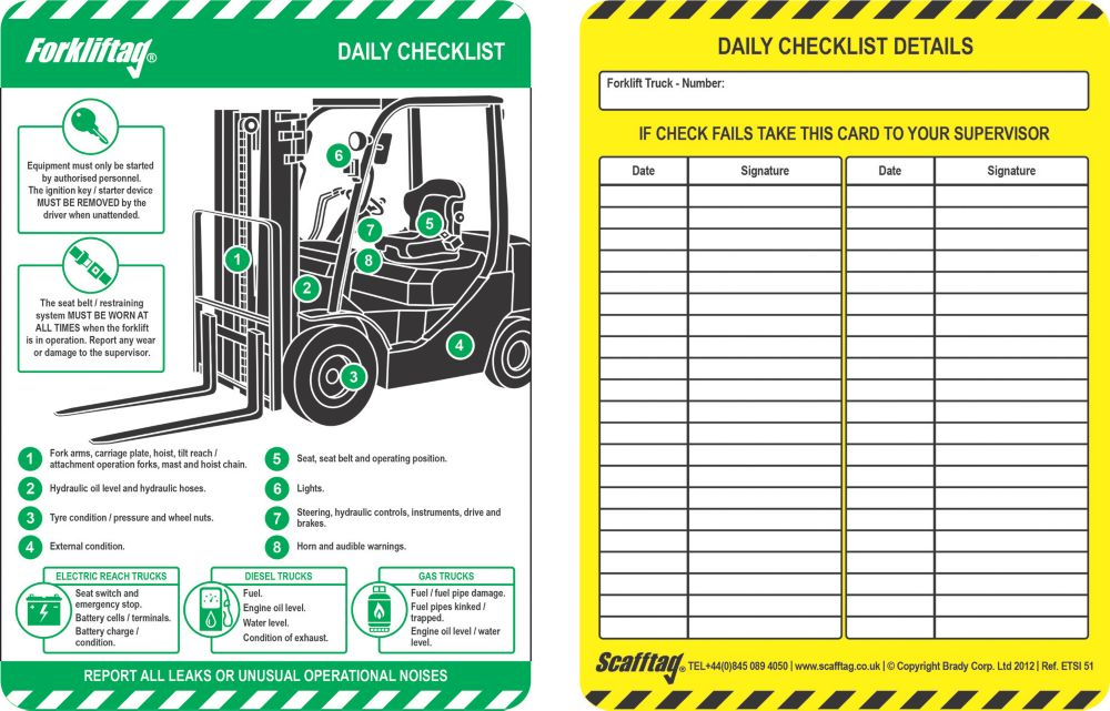 Image of Scafftag Forklift Inserts 10 Pack