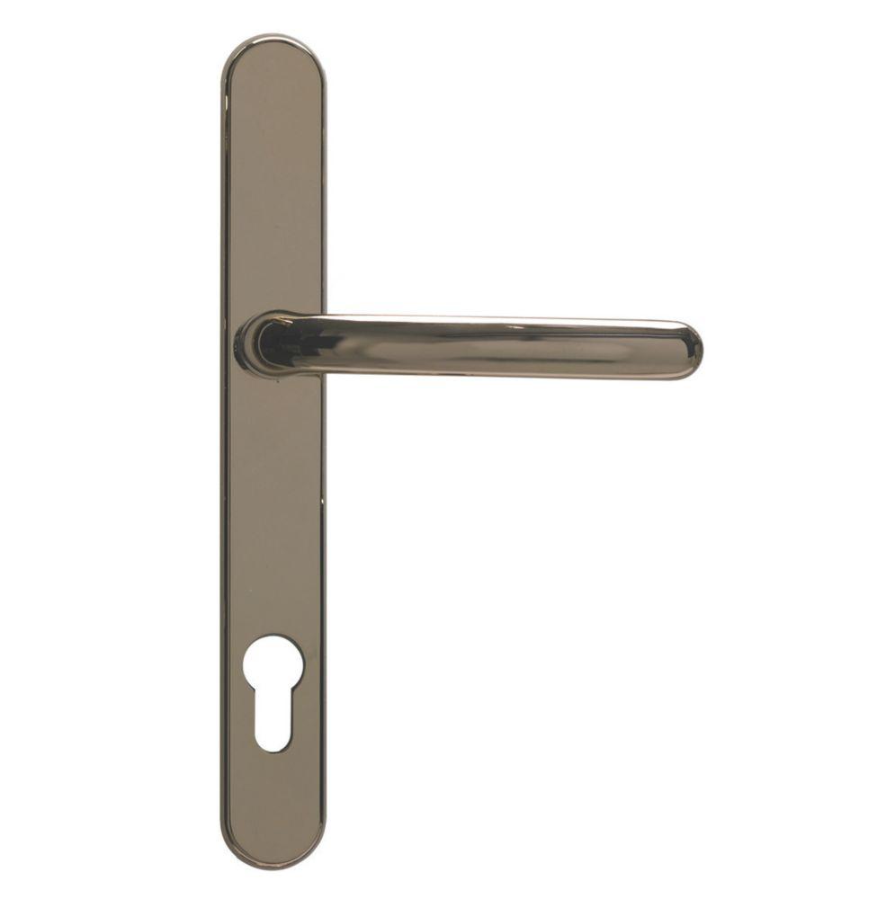 Image of Fab & Fix Balmoral External Use Door Handles Pair Polished Gold