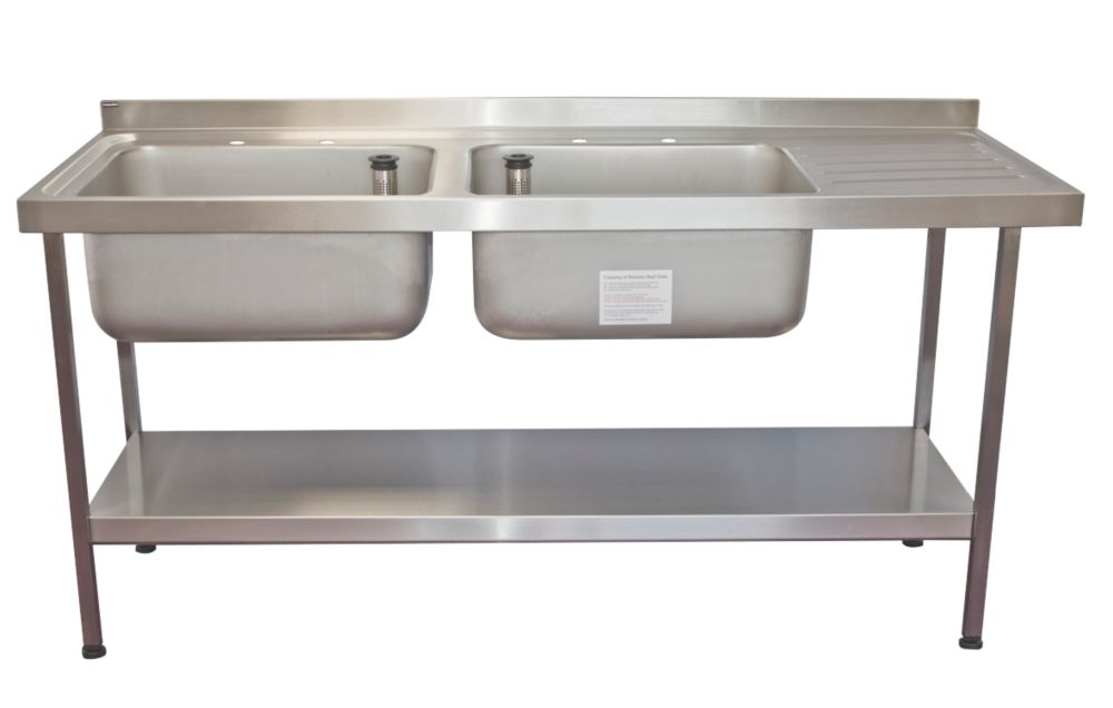 Image of Franke Midi Catering Sink Stainless Steel 2-Bowl 1800 x 650mm