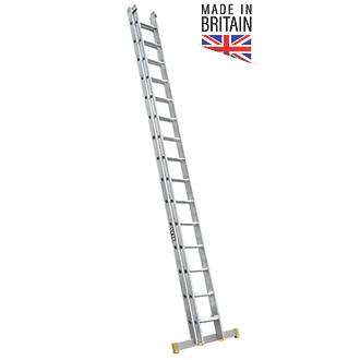 Image of Lyte 2-Section Aluminium Double Extension Ladder 7.81m