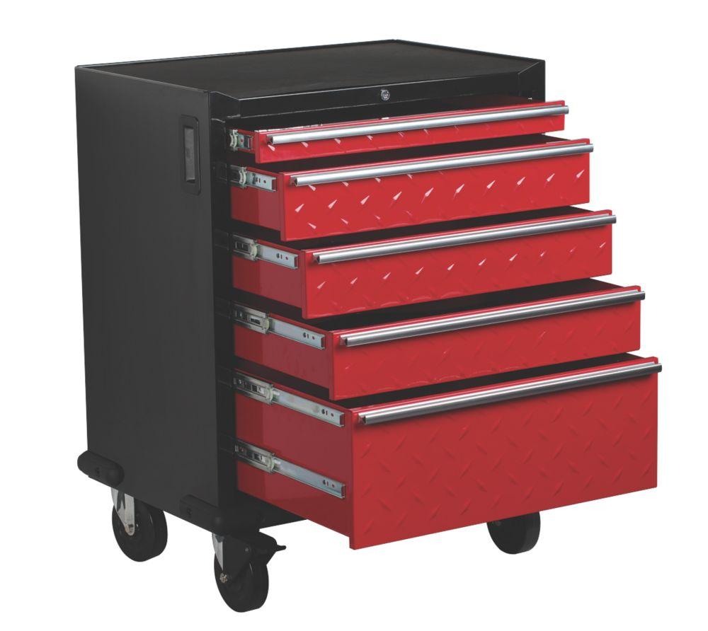 Image of Hilka Pro-Craft 5-Drawer Garage Mobile Cabinet