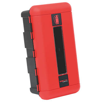 Image of Firechief 106-1000 Single Extinguisher Cabinet 335 x 240 x 620mm Red / Black