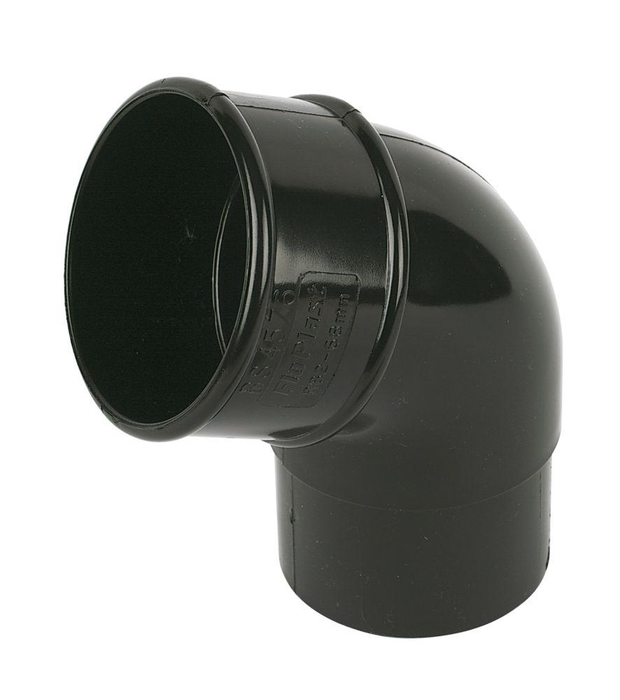 Image of FloPlast 112.5 Offset Bend 68mm Black
