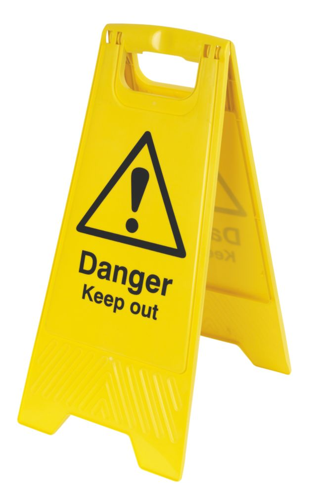 Image of Danger Keep Out A-Frame Safety Sign 600 x 290mm