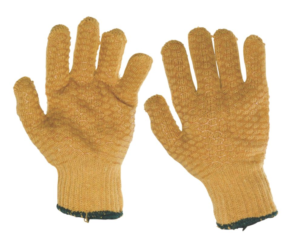 Image of Keep Safe Criss Cross Gripper Gloves Orange Large