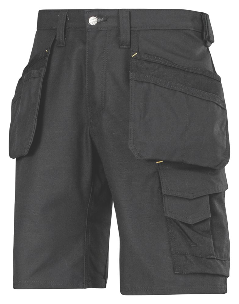 "Image of Snickers 3014 Craftsmen Multi-Pocket Shorts Black 38"" W"