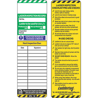Image of Scafftag Laddertag Inserts 10 Pack