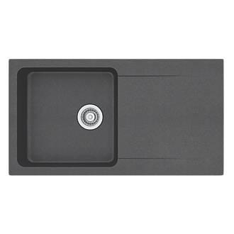 Franke Tectonite Inset Kitchen Sink Black 1 Bowl Reversible 940 x ...