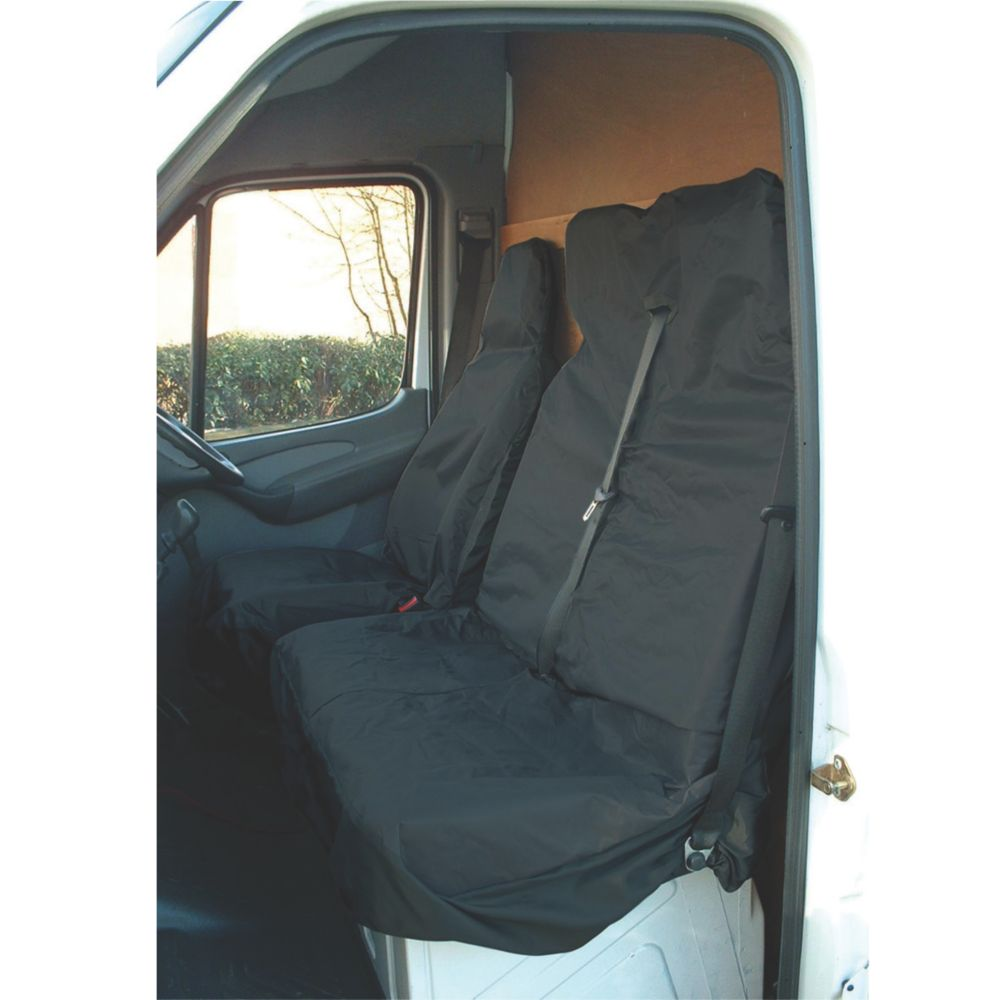 Image of Maypole Universal Van Seat Cover Set Black 2 Pieces