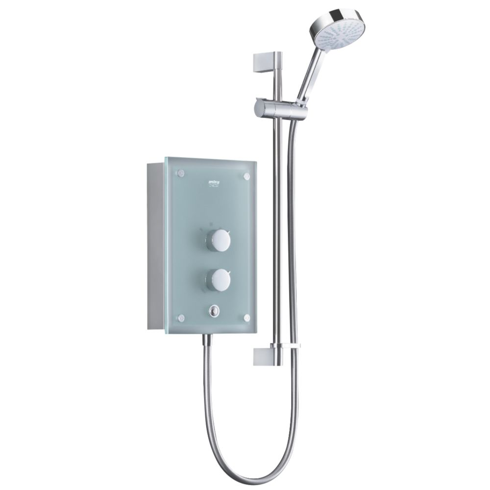 Image of Mira Azora Electric Shower Frosted Glass 9.8kW