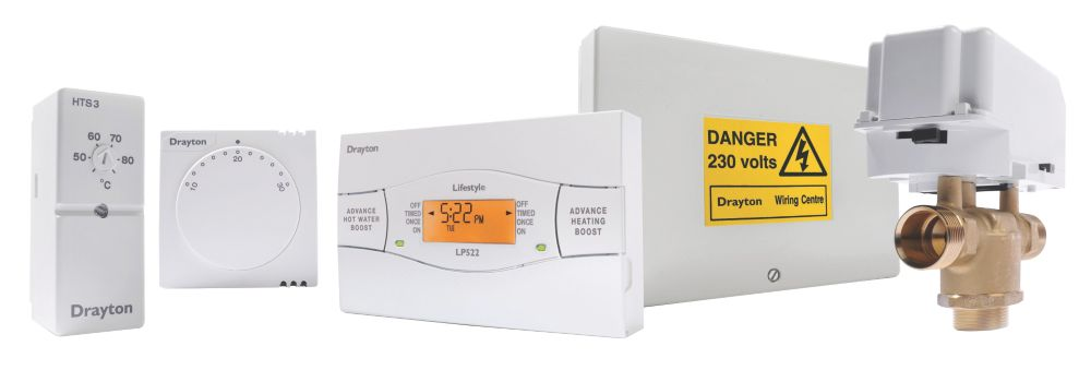 Image of Drayton PBBE58 Biflo Central Heating Control Pack