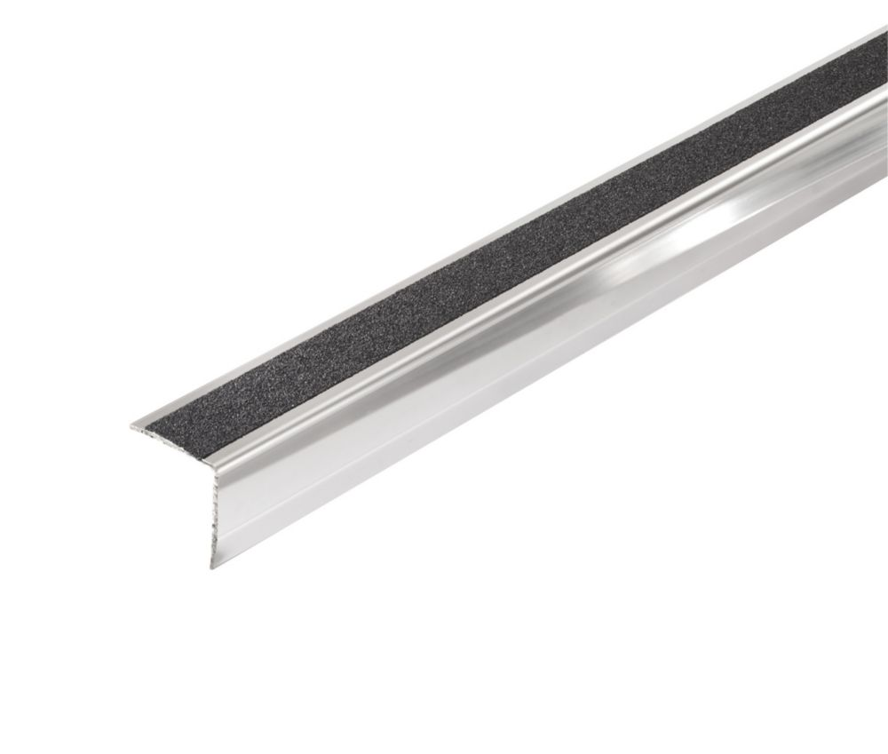 Image of 071FSX Silver Stainless Steel Stair Edging 30 x 30 x 1000mm 5 Pack