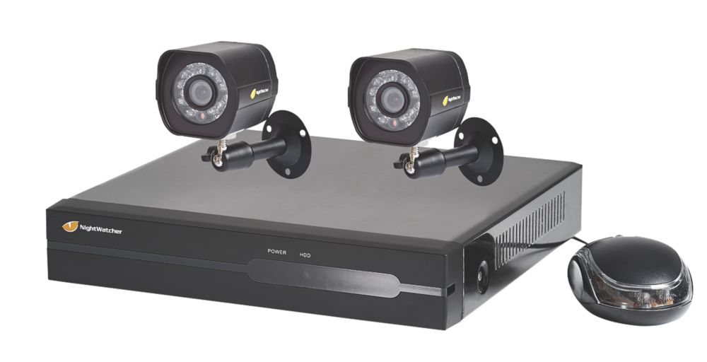 Image of Nightwatcher NW-4NVR-1TB-C720-2B 4-Channel CCTV NVR Kit with 2 Cameras