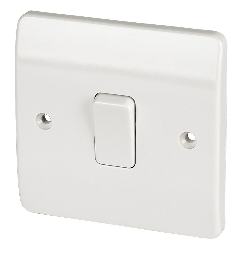 mk 1-gang 1-way 10ax light switch white | switches & sockets, Wiring diagram