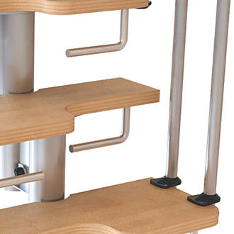 Image of Fontanot Nice 2 Steel Staircase Riser Bars Powder Coated 180mm