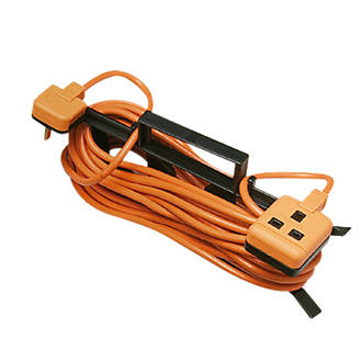 Image of Masterplug CT1513O-XD 13A 1-Gang Unswitched Extension Lead 15m