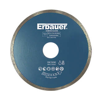 Image of Erbauer Tile Diamond Tile Blade 110 x 22.23mm