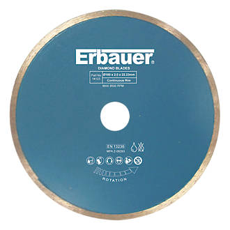 Image of Erbauer Tile Diamond Tile Blade 180 x 22.23mm