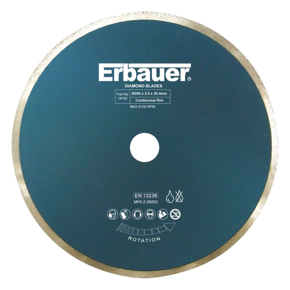 Image of Erbauer Diamond Tile Blade 250 x 2.5 x 25.4mm