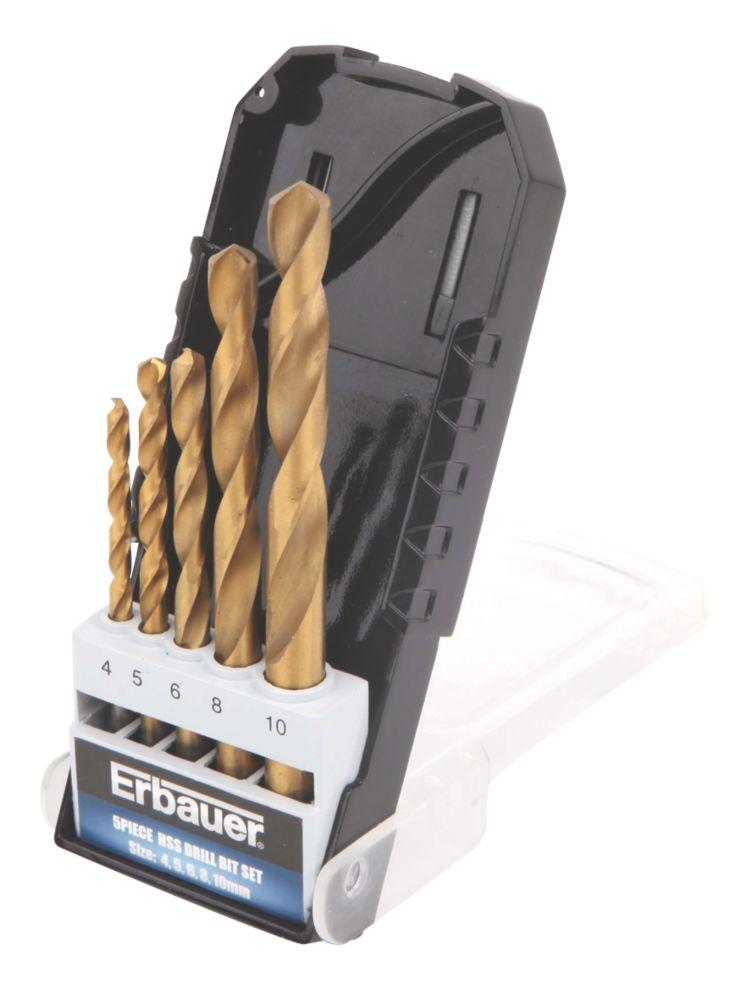 Image of Erbauer HSS Drill Bit Set 5 Pieces