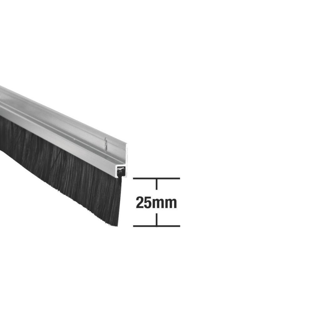 Image of Stormguard Heavy Duty Brush Seal Aluminium 0.91m