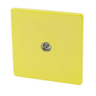 Image of Varilight Coaxial TV Socket Lime Green