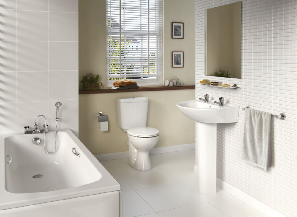 Image of Ideal Standard Sandringham 21 Contemporary Single Ended Bathroom Suite with Acrylic Bath