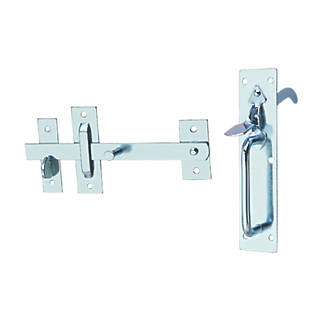 Image of Hardware Solutions Suffolk Gate Latch Kit Silver
