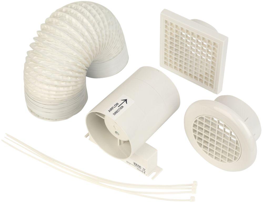 Image of Manrose In-Line Shower Fan Kit White