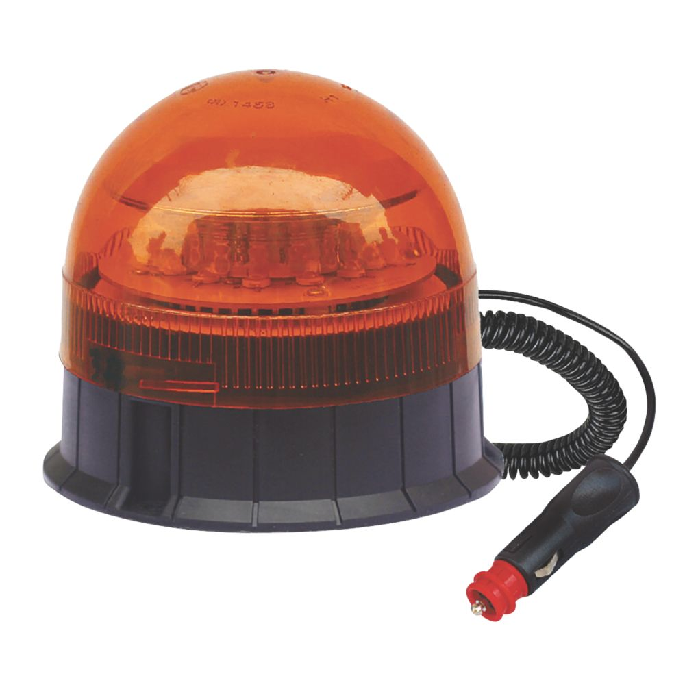 Image of Maypole Amber Magnetic LED Beacon 12 x 3W 200mm