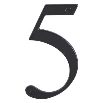 Image of Fab & Fix Door Numeral 5 Black 80mm