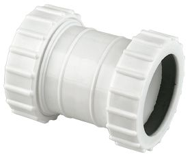 Image of FloPlast WC07 Universal Compression Waste Straight Coupler White 32mm x 32mm