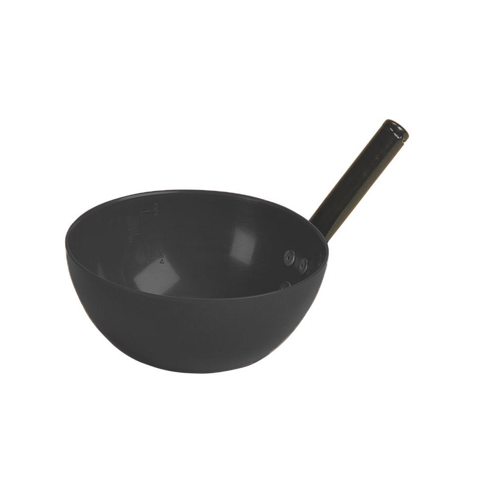 Image of Stubbs Plastic / Steel Round Bowl Feed Scoop Black 2Ltr