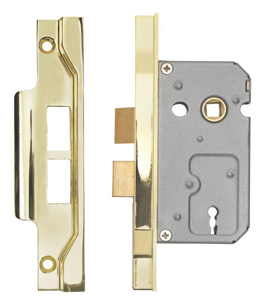 "Image of Eurospec 2-Lever Rebated Sashlock Electro Brass 1"" / 44mm"