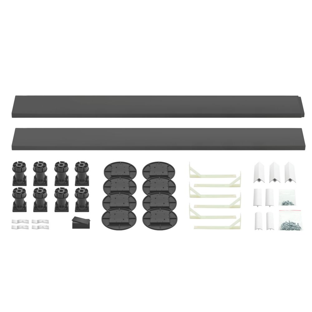 Image of The Shower Tray Company Universal Shower Tray Easy Plumb Kit Grey 35 Pcs