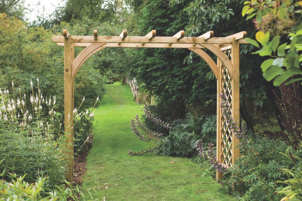Forest Ultima Garden Pergola Arch Natural Timber 2 70 X 1 36 X