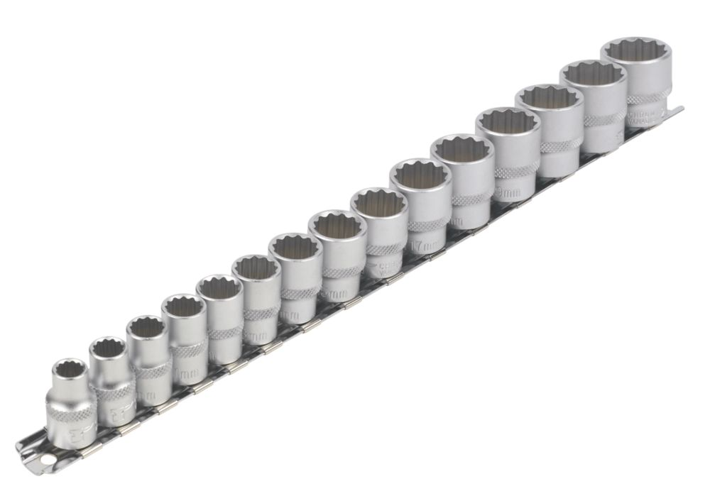 "Image of Forge Steel Socket Set 3/8"" 15 Pieces"