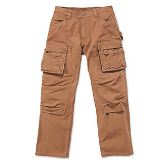 "Image of Carhartt EB219 Multi-Pocket Trousers Brown 34"" W 32"" L"