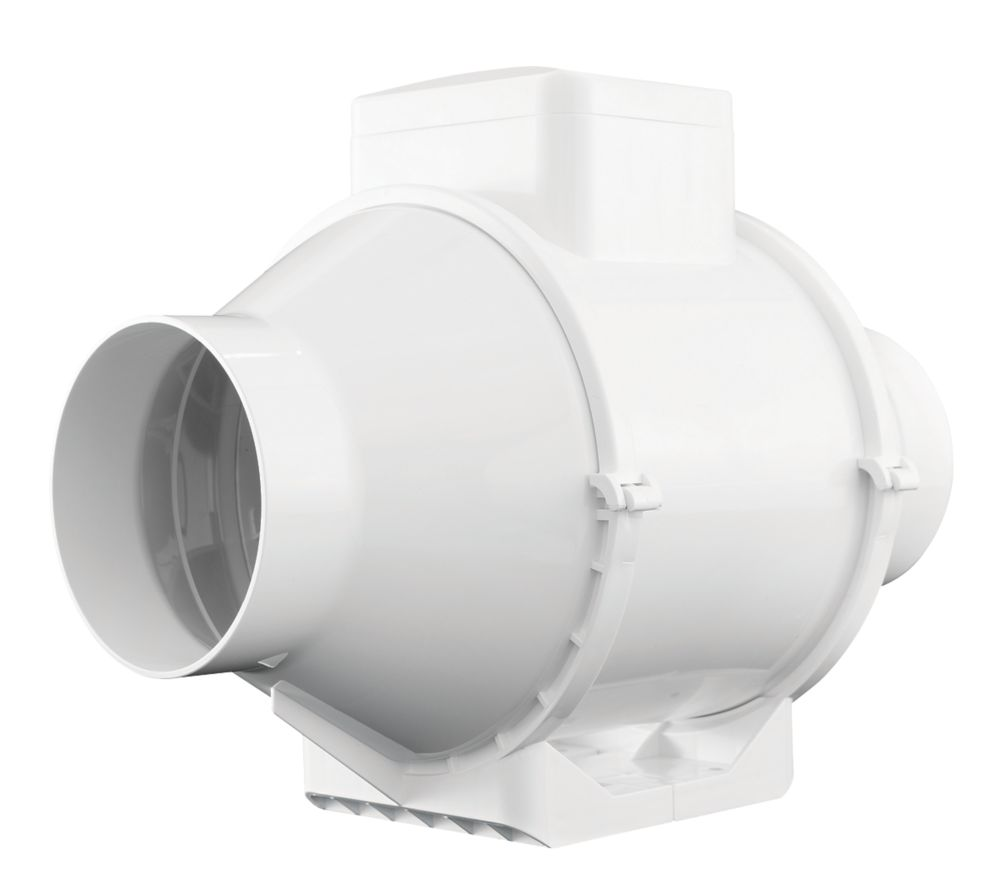 Image of Xpelair XIMX100T+ 25W In-Line Mixed Flow Extractor Fan