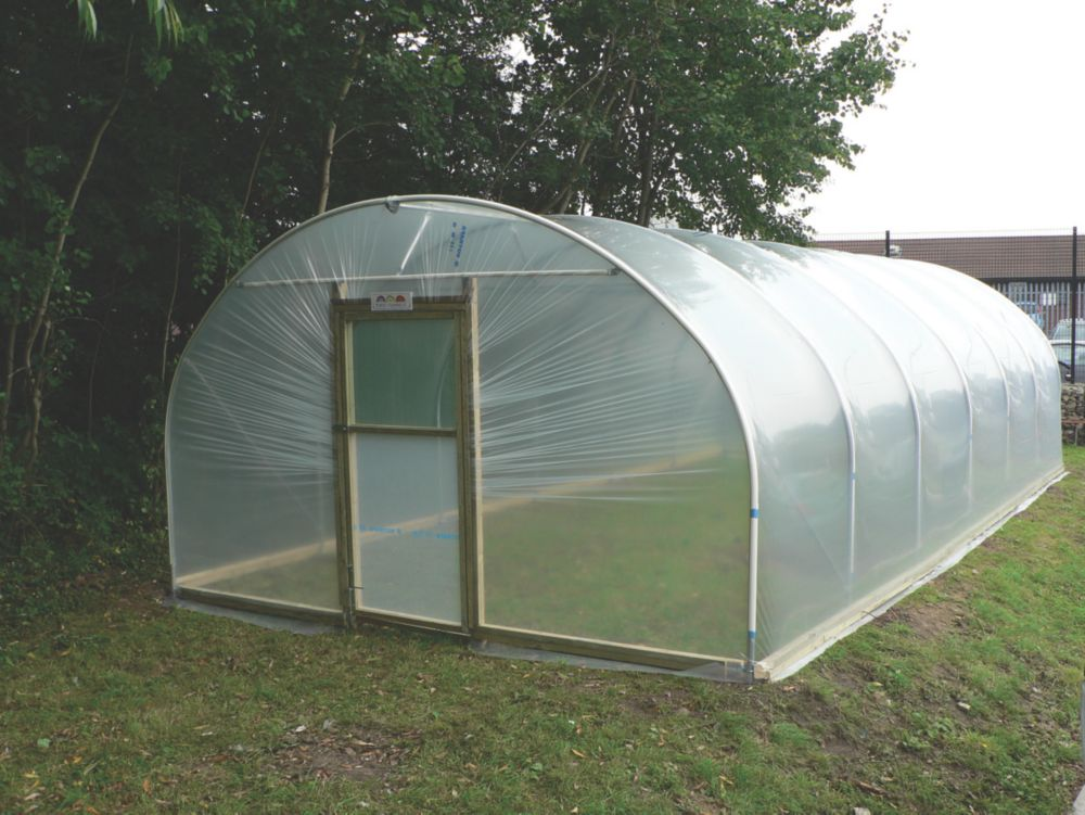 Image of First Tunnels Horticultural Polytunnel 4.27 x 8.53 x 2.48m