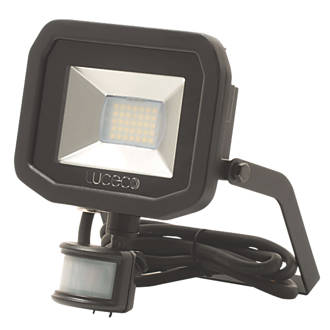 Image of Luceco Guardian LED Floodlight & PIR Black 15W Warm White