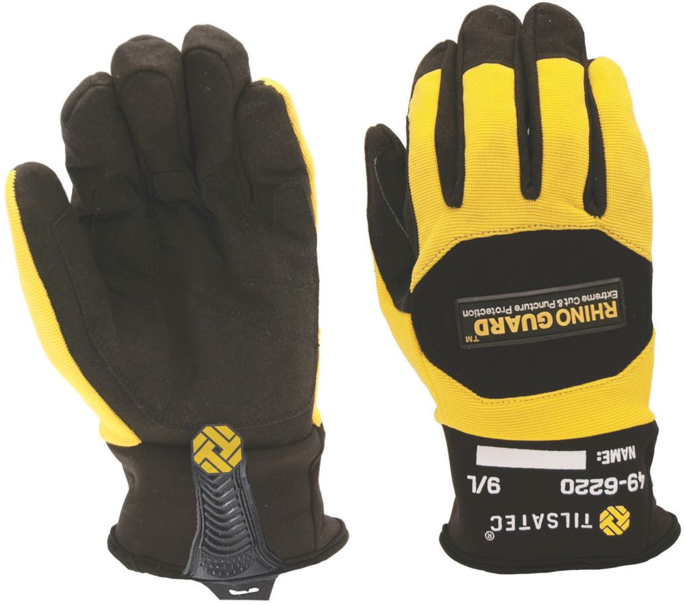 Image of Tilsatec TTP450 Needlestick Cut 5 Gloves Black / Yellow Extra Large