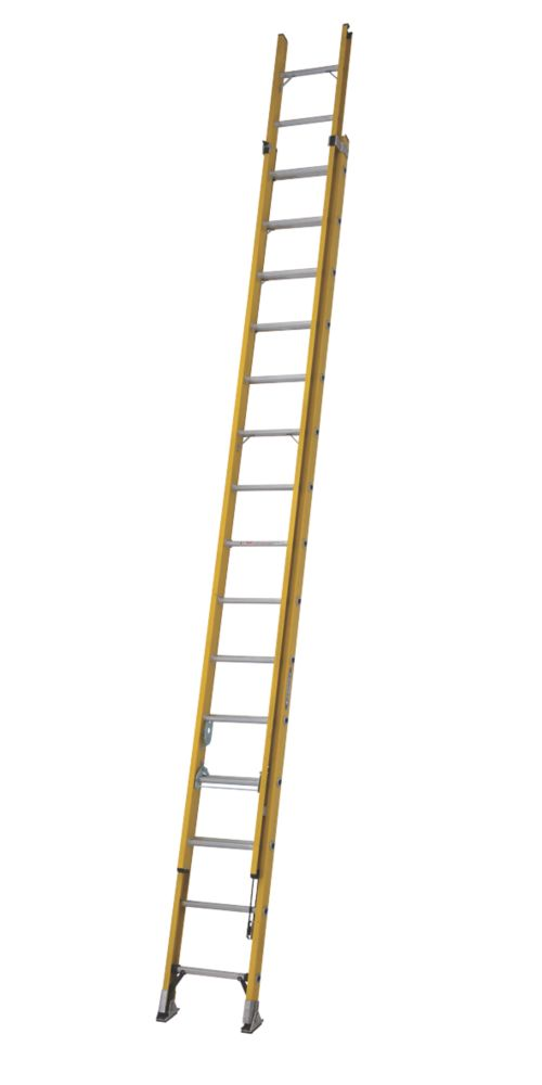 Image of ALFLO 77545 Double Extension Ladder 30 Rungs Max. Height 7.96m