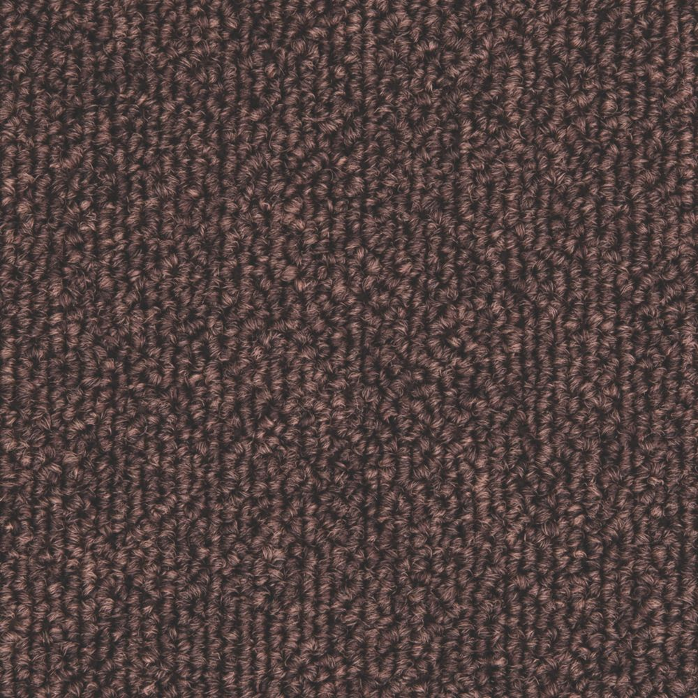 Image of Distinctive Flooring Trident Carpet Tiles Dark Brown 20 Pcs